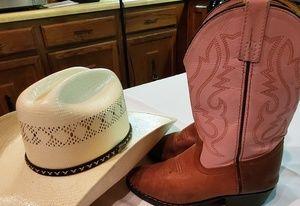 EUC Girls Cowboy Boots